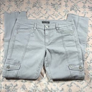 White House Black Market Blanco Slim Leg Jeans 8R